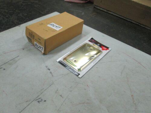 Amertac Brass Finish Blank Wall Plate Style 155B Box of 6 NIB