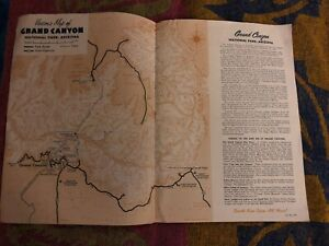 Details About Visitors Map Of Grand Canyon National Park Arizona 1961