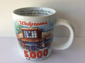 walgreens 5000 store coffee mug with deed of auththenticity