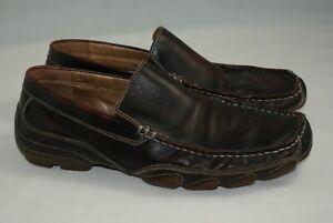 aldo men's us 8 eu 41 brown black leather loafers driving