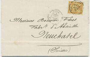 FRANKREICH-1879-25-C-Allegorie-gelbbraun-a-gelb-EF-Kab-Bf-n-Neuchatel-Schweiz