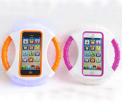 Kids Baby Boy Girl English Learning Study Toy Phone Steering Wheel Baby Toys LED
