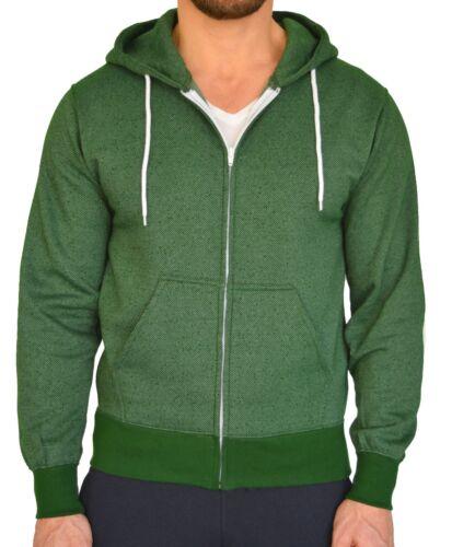 Men/'s Zip Up Hoodie Salt and Pepper Hooded Fleece Zipper Sweatshirt Cotton