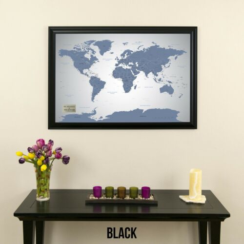 Travel Map with Pins Track Your Travels Blue Ice World The Perfect Gift!