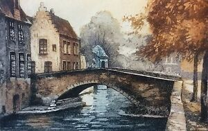 Landscape-Loire-to-Identify-Gravure-Signed-P-Pencil-in-Bottom-Right-France