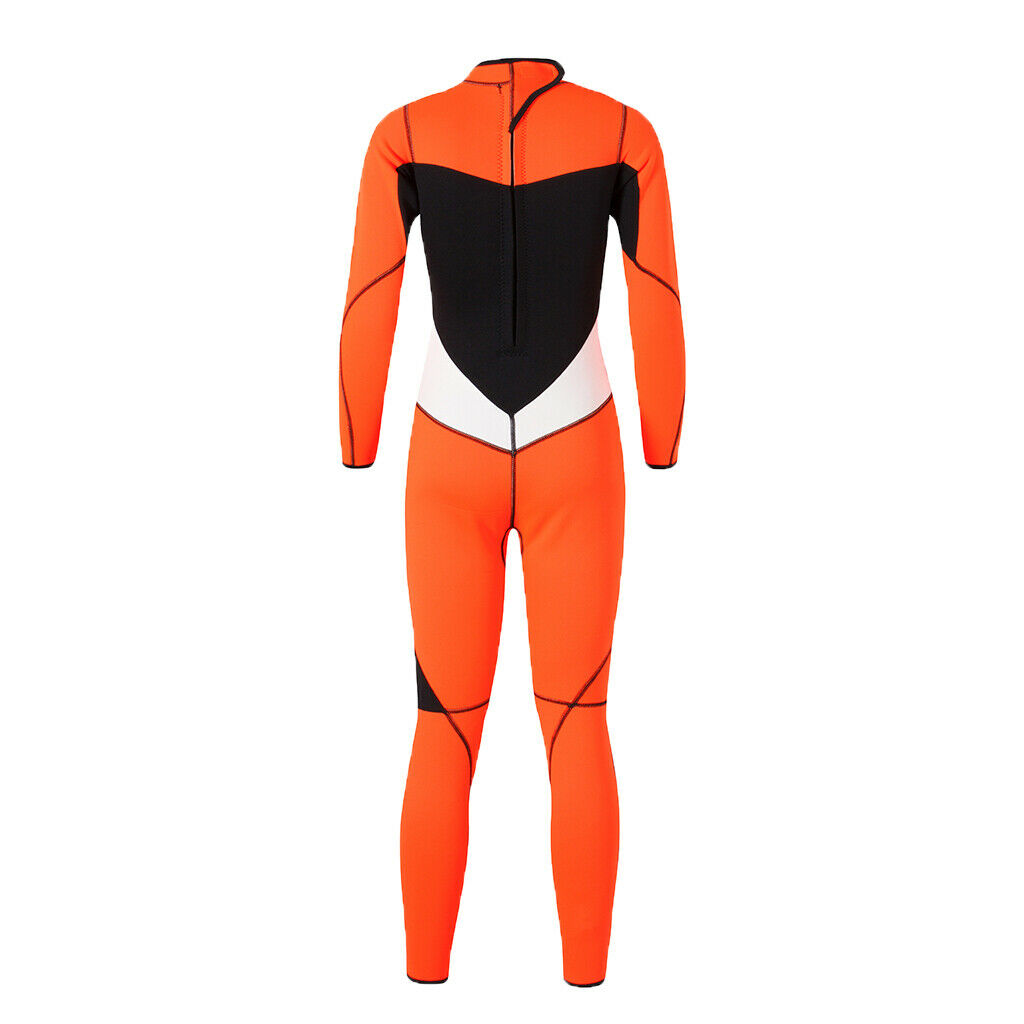 Prettyia Neoprene Wetsuit 3mm Women Scuba Diving Thermal Wetsuit –orange