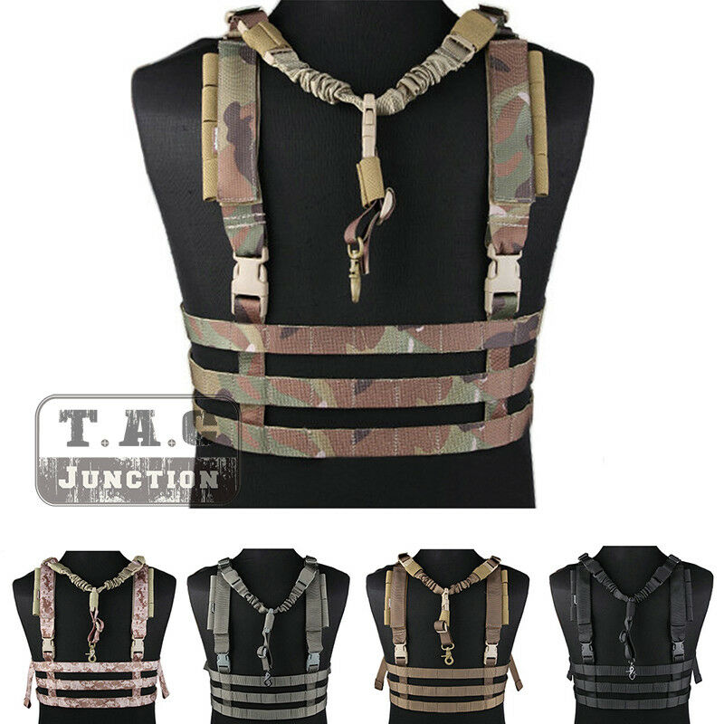 Emerson Tactical MOLLE Chest Rig Lightweight High Speed Vest  w  QD Bungee Sling  buy cheap