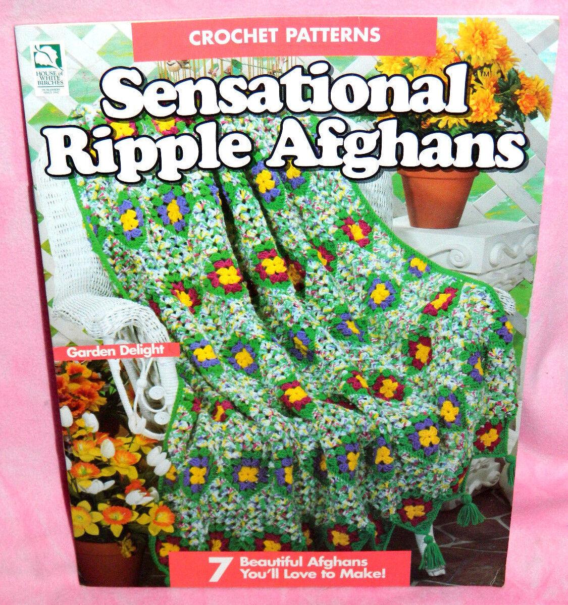 House of White Birches sensacional Ondulación afganos FOLLETO de ...