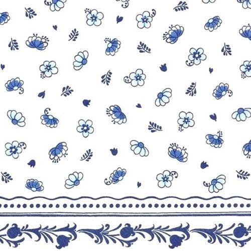 4 papel de Almuerzo Servilletas Para Decoupage Mesa De Fiesta Azul Vintage Pequeño Floral