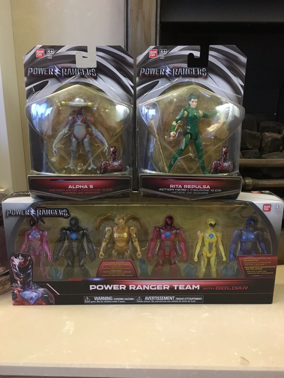 Power Rangers Movie 2017 Complete 8 Action Figures Team Goldar Rita Alpha 5 New