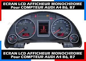 Parts & Accessories ECRAN LCD AFFICHEUR OBD MONOCHROME COMPTEUR AUDI A4 B6 Instrument Clusters B7 depuis 2002...