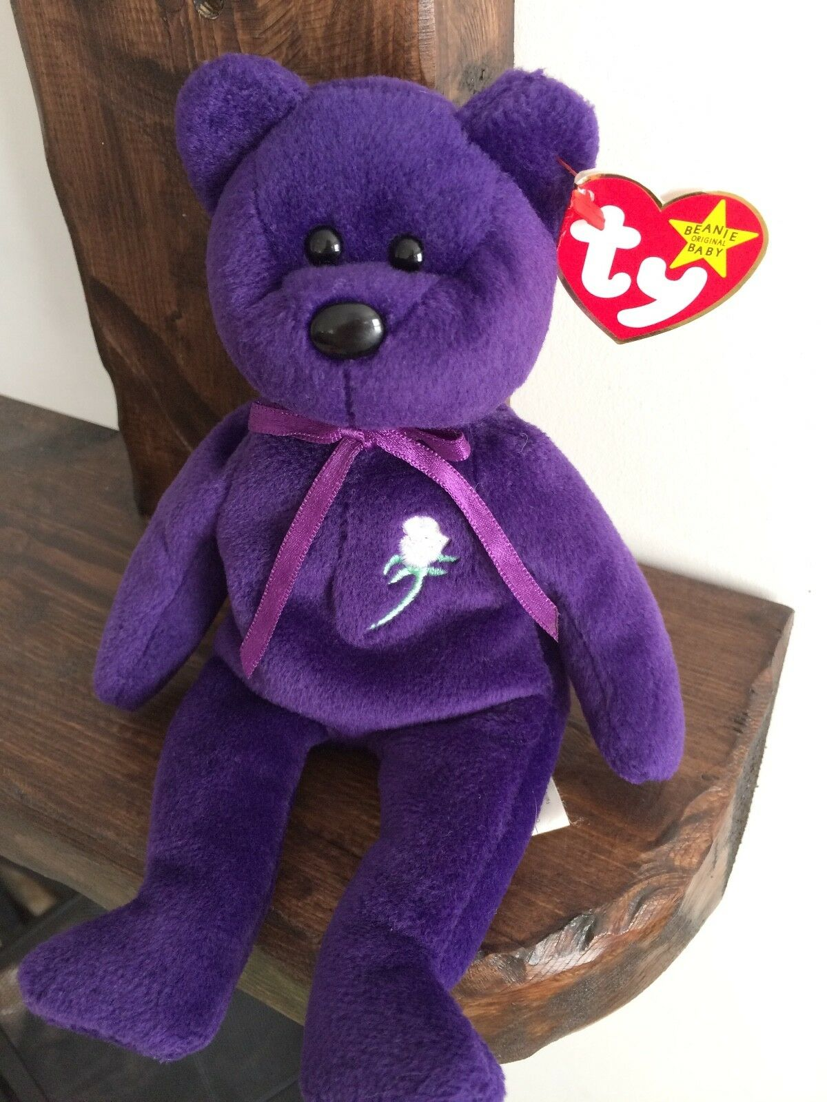 TY Beanie Baby, Princess 1997 (P.E. Pellets) - Canadian Swing Tag