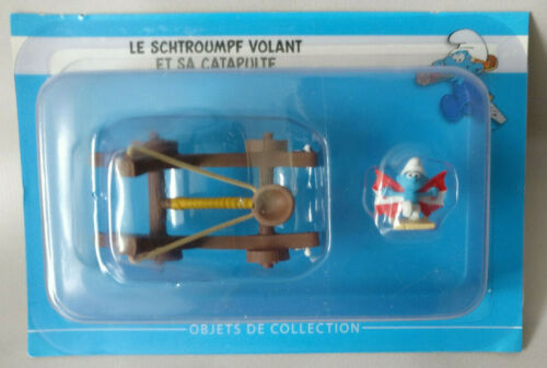 Catapulte Schtroumpf volant  N°10  Neuf figurine schtroumpfs collection