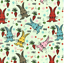 NURSERY CHILDREN FABRIC PER FQ METRE EASTER CRAFT SEW RABBITS BUNNY THUMPER