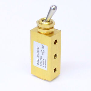 1pc 4 Way 2 Pos Switch Toggle Valve M5 Detented Miniature MettleAir MPTV052M5