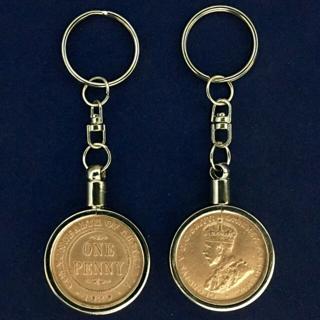 1951 UK Farthing Coin Keyring Birthday Anniversary
