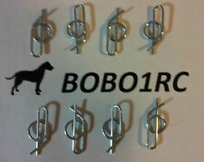 8 LARGE LOCKING 1/10 SCALE RC BODY CLIPS PINS FAST USA SHIPPING