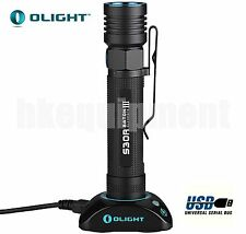 OLIGHT S30R III Baton Cree XM-L2 U3 USB Rechargeable Flashlight+Dok Charger