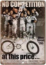 "BMX Diamond Back Silver Streak 10"" x 7"" reproduction metal sign"