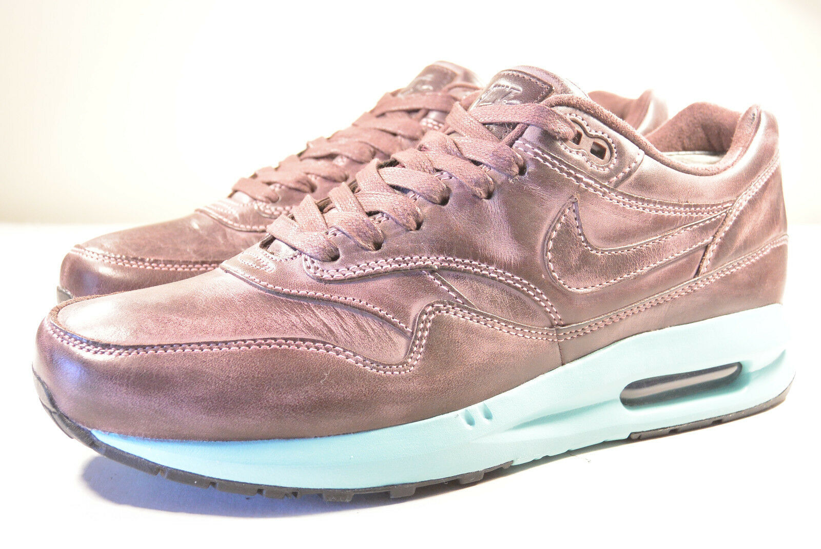 DS 2014 NIKE AIR MAX LUNAR1 1 LTR QS BURNISHED LEATHER PACK MAHOGANY 8 - 12