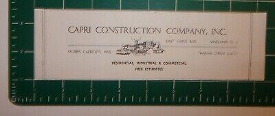 Nj Advertisement Vineland 1963 Capri Construction Company Inc