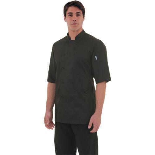Chef Works Montreal Basic Cool Vent Unisex Jacket Black Top 3//4 Sleeve Workwear