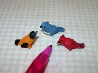 Miniature Trio Of Song Birds For Dollhouse Garden 1/12-ish Scale Miniatures