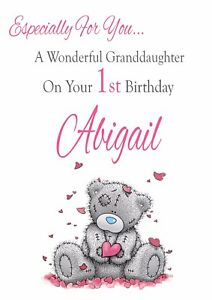 Image Is Loading BABY GIRL PERSONALISED BIRTHDAY CARD ANY RELATIONSHIP 1st