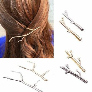 Silver-Hair-Clips-For-Women-Bobby-Pins-2PCS-Simple-Design-Metal-Leaf-Hairpins