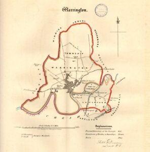 Details about WARRINGTON town/borough plan. REFORM ACT. Latchford.  Lancashire. DAWSON 1832 map