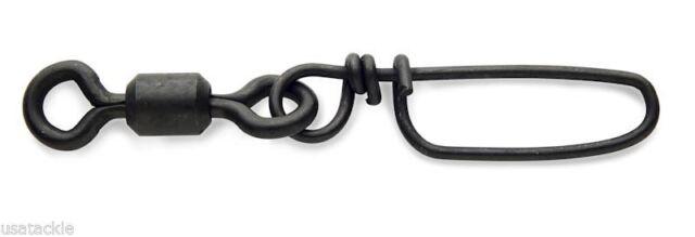 25pk ROSCO Coastlock Snap Swivels Brass Stainless Steel Black Size 2//0 225lb