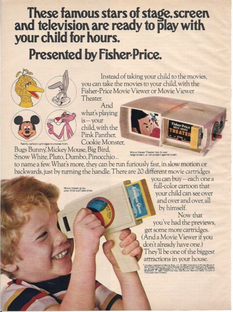 Vintage Fisher Price Movie Viewer Ad 1980