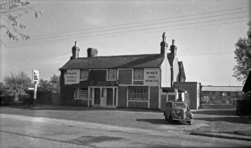 BW Negative Beare Green Surrey The Dukes Head Inn 1940s +Copyright DB668