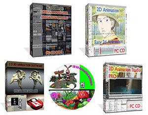 2D 3D Graphics Animation Image Editor Create Cartoons Software + BONUS  3213292621519