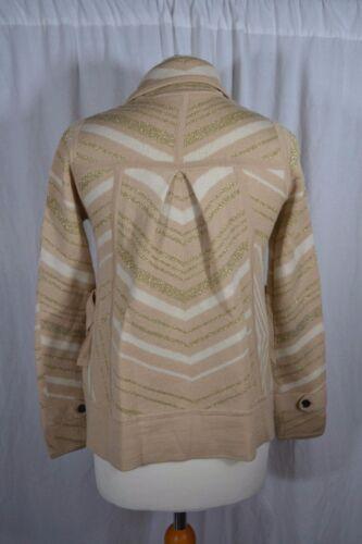 And Ivory Gold Diane m Sparkly Furstenberg Cardigan Size Lurex Von Knit Beige S UMpVSzqG