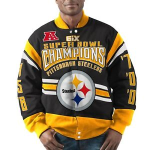 d0c2b1bd Image is loading Pittsburgh-Steelers-G-III-Extreme-GLADIATOR-Commemorative- Cotton-
