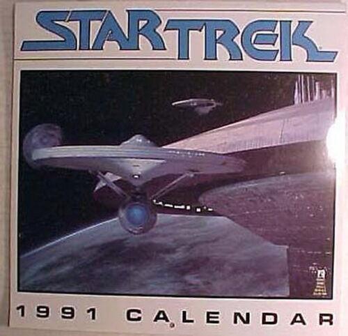 Factory Sealed Original 1991//2019 Classic Star Trek Wall Calendar