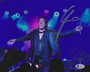 Chris-Jericho-Signed-Fozzy-8x10-Photo-BAS-Beckett-COA-WWE-AEW-Picture-Autograph