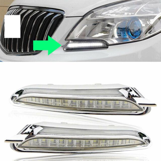2x For Buick Encore 2013-15 White 12LED Headlight Fog ...