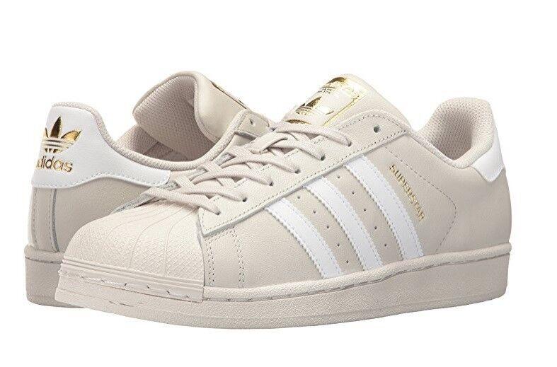 MENS ADIDAS ORIGINAL SUPERSTAR BEIGE blanc athlétique chaussures BY1304