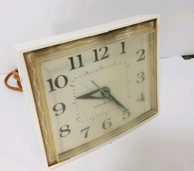 Vintage General Electric Ge Clock Mid Century Square Wall