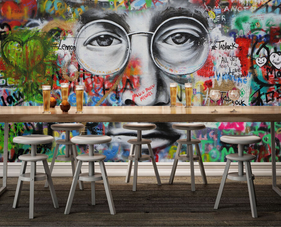 3D Graffiti male pigment Wall Paper Print Decal Wall Deco Indoor wall Mural