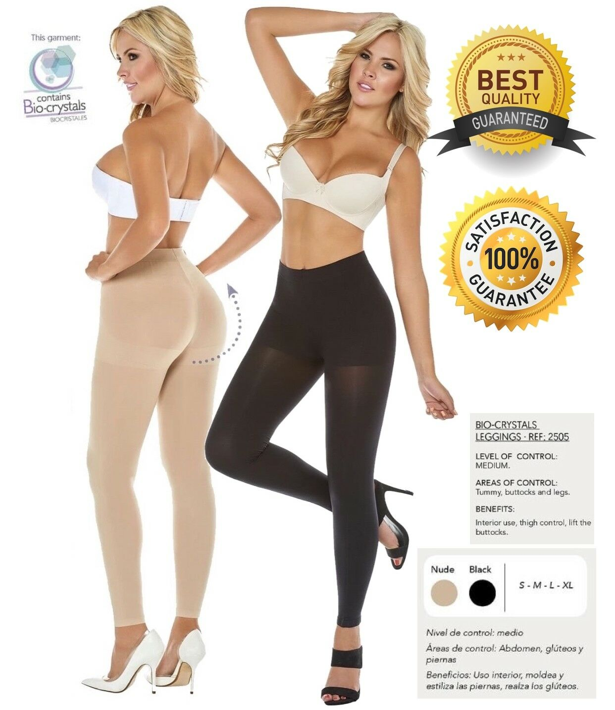 Seamless Invisible Slim Leggings Butt Lifter Colombian Shaper Lycra Compression