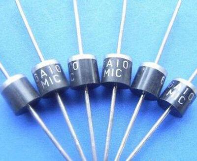 10pcs 6A10 1000V 6A Rectifier Diode R-6 e