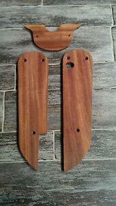 Retro-Design-Echt-Holz-Set-Trittbretter-amp-Abdeckung-Simson-Schwalbe-KR-51-NEU