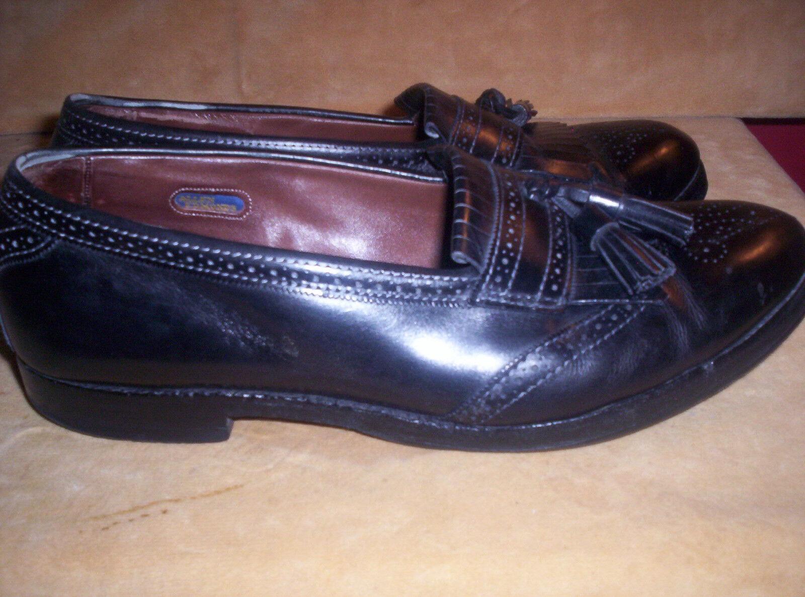 Allen Edmonds Bridgeton Brogue Loafers Men's 9.5 D Black Kiltie Tassel USA MADE