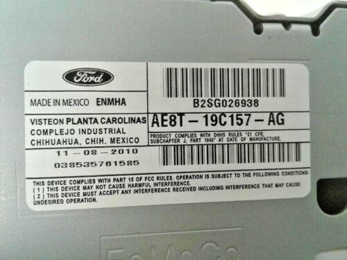 2011-2013 Ford Fiesta AM FM Radio Receiver with Satellite AE8T-19C157 OEM