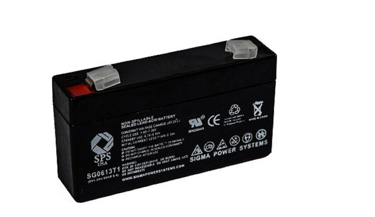 SPS Brand 6V 1.3 Ah (Terminal T1) battery for Consent GS6V1.3AH (1 PACK)