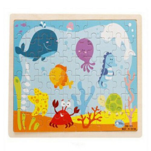 Wooden Baby Children Animal Jigsaw Early Learning Puzzle Toy Educational Gift