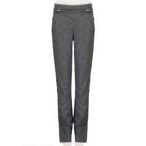 MONSE-Grey-Pink-Stripe-Dropped-Bib-Front-Trousers-Pants-US8-UK12
